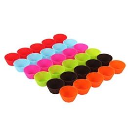 30 Stück = ein Backblech voll wiederverwendbare Muffin-Formen Cupcake Formen in 6 Farben aus hochwertigem Silikon Muffinförmchen -