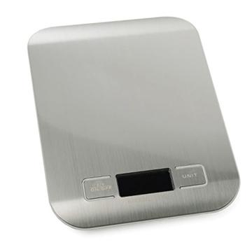 5000g / 1g Mini Portable Edelstahl LCD Display Küche Essen Plattform Digitalwaage Silber -