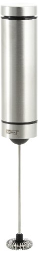 Ad Hoc MS10 Batteriebetriebener Milch-Schäumer Rapido, Edelstahl/Kunststoff  schwarz, inkl. 3 Batterien, mit Ständer: H: 21 cm D: 3 cm -