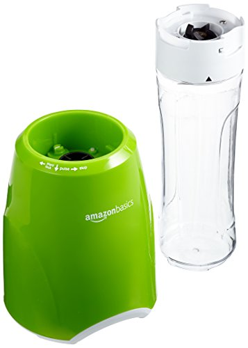 AmazonBasics Smoothie-Mixer Mix & Go, Leistung: 300 W, Grün -