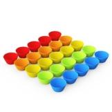 anbina® Muffinförmchen 25er Set an wiederverwendbaren Silikon Muffinformen im 25er Muffin Pack in 5 Farben -