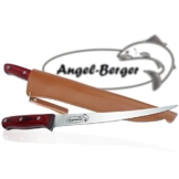 Angel Berger Edelholz Filetiermesser mit Messerscheide sehr scharf sehr stabil -