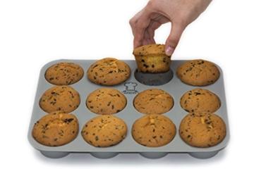 BackeFix - Silikon Muffinblech - einfach zufrieden sein ★ ohne Fett und Papier backen ★ beliebtestes Silikon Muffinform ★ Antihaft-Beschichtung   2 Jahre Garantie   Silikon Muffinform (12er) -