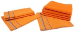 Betz 8er Set Geschirrtücher Küchenhandtuch Gläsertücher 4 Stück Frottierküchentücher 50x50 cm 4 Stück Gläsertücher 50x70 cm Farbe orange -