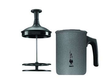 Bialetti Tutto Crema Milchaufschäumer 6 Tassen mit Doppelsieb für einen stabilen Milchschaum -