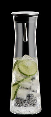 Bohemia Cristal 093 006 103 SIMAX Karaffe ca. 1100 ml aus hitzebeständigem Borosilikatglas mit praktischem Ausgießer aus Edelstahl