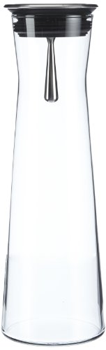 """Bohemia Cristal 093 006 103 SIMAX Karaffe ca. 1100 ml aus hitzebeständigem Borosilikatglas mit praktischem Ausgießer aus Edelstahl """"Indis"""" -"""