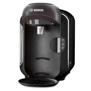 Bosch TAS1252 Tassimo Multi-Getränke-Automat VIVY (kompakte Gerätemaße, Getränkevielfalt, vollautomatische 1-Knopf-Bedienung), real black -