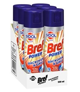 Bref Power Backofen- & Grillreiniger mit bewährter Sidol Qualität, 6er Pack (6 x 500 ml) -