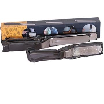 Chefarone Winkelpalette Set - 3 Winkelpaletten aus Edelstahl zum Backen - Kuchen Tortenmesser - Streich-Palette groß und klein für Fondant -