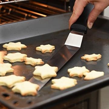 Chefarone Winkelpalette Set mit XL Streichpalette und zwei Winkelpaletten - Leichtes Dekorieren im Handumdrehen - Kuchen Tortenmesser aus Edelstahl zum Backen und für Fondant -