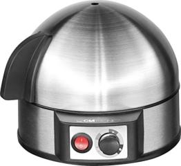 Clatronic 263 118 EK 3321 Eierkocher mit Härtegradeinstellung (7 Eier) 400 Watt inox -