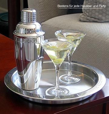 Cocktail Set von GRAND - Schüttelbecher Doppelter Edelstahl-Messbecher + Stößel + Bar-Löffel + Flaschenöffner + Rezepte- eBook Perfekter Geschenkset für Weihnachten. -