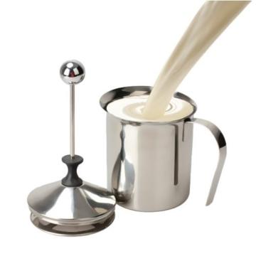 Cozyswan 800ml Verdicken Milchaufschäumer, Schaumbecher, Edelstahl, Mesh Milchaufschäumer Milch-Schaum -