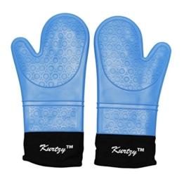 CurtzyTM Silikon Topflappen Handschuhe 2er Pack Hitzebeständig Griff Handschuh -