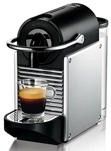 DeLonghi Nespresso EN 125.S Kapselmaschine (1260 Watt, 0,7 Liter, Pixie Electric) silber -