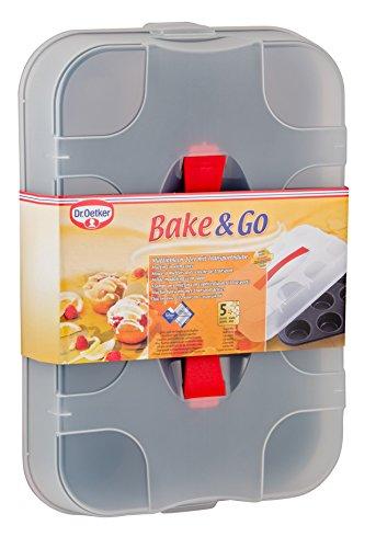 Dr. Oetker 1011 Bake & Go 12er Muffinblech mit Transporthaube -
