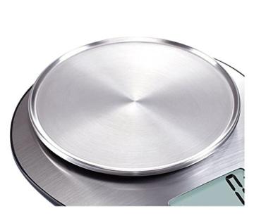 EXZACT Premium Elektronische Küchenwaage mit Großer Anzeige mit Rührschüssel aus rostfreiem Stahl - 5kg/11lb (EX4350) -
