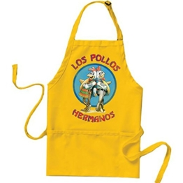 Fuman Breaking Bad Los Pollos Hermanos The Chicken Brothers Schürze Küchenschürze -