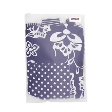 G2PLUS Schön Frau Schürze Baumwolle Blumenmuster Küchenschürze Modische Apron mit Taschen zum Kochen oder Backen (Blau) -