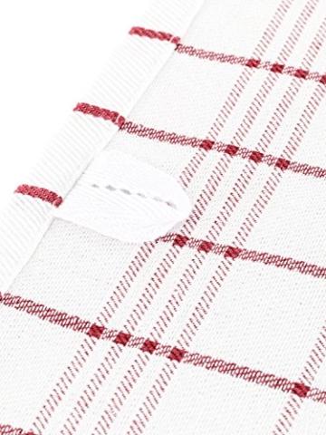 Geschirrtücher 100% Baumwolle Geschirrtuch-Set Küchen-Handtuch Trockentuch Reinigungstuch Spül-Tuch Küchenputz-Tuch Geschirr-Handtücher 50x 70 rot / 8er Set Geschirr-Set -