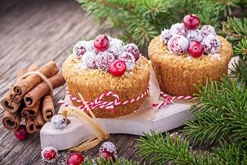 GOURMEO - 25 wiederverwendbare Muffinformen in 5 Farben aus hochwertigem Silikon / Muffinförmchen Cupcakeförmchen Muffinform Cupcake Muffin-form Backförmchen Muffin Form, umweltschonend l 2 Jahre Zufriedenheitsgarantie -