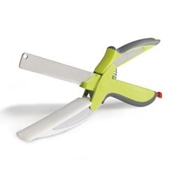 GOURMETmaxx Schneidbrett-Schere 2in1 limegreen ( Geniale Kombination aus Schere, Messer und Schneidbrett ) -