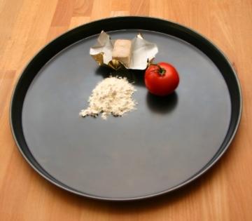 GRÄWE® Pizzablech rund 36 cm, schwere Profi-Qualität -