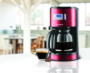 Grundig KM 6330 Kaffeemaschine Red Sense (1,8 l, Digitaluhr, programmierbare Startzeit) metallic rot -