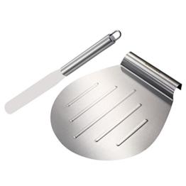 GWHOLE Kuchenheber Kuchenretter und Streichpalette Konditormesser Set, aus Edstahl -