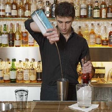 Homdox Boston Cocktailshaker loft Bar Barmixer Edelstahl 18/10 und 500ml Gläser 2411 -