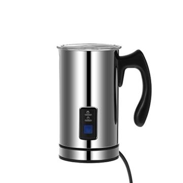 Homgeek Automatische Milchaufschäumer Kaltes und Warmes Aufschäumen 500W 240ML -
