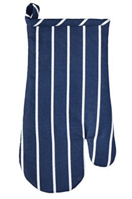 "Kitchen Craft '""Butcher 's Stripe traditionellen Ofen Mitt, 30 x 17 cm (30,5 x 16,5 cm) - Navy Blau -"