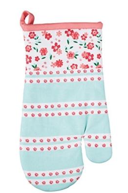 """Kitchen Craft """"Ditsy Floral Ofenhandschuh, 30x 17cm (30,5x 16,5cm)-Pink/Baby Blau -"""