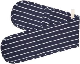 Kitchen Craft Doppelter Ofenhandschuh, blau gestreift -