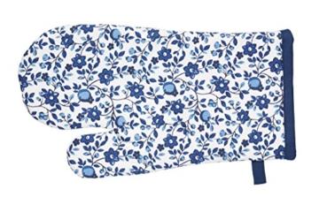 Kitchen Craft traditionelle Ofenhandschuh, Baumwolle blau -