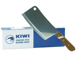 Kiwi Edelstahl Hackmesser 34,5cm Küchenmesser Messer Thailand Hackbeil -