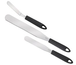 Küchenprofi 0805852803 Konditormesser-Set, 3-teilig, Edelstahl, silber, 6,4 x 3,8 x 39,4 cm -