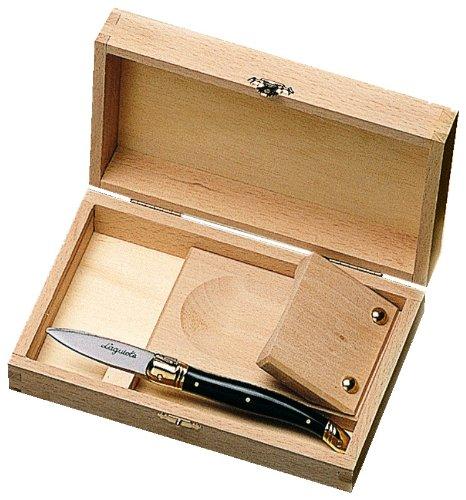 Laguiole Jean Dubost 98/11696Austernöffner-Set inkl. Austernmesser Laguiole ABS schwarz -