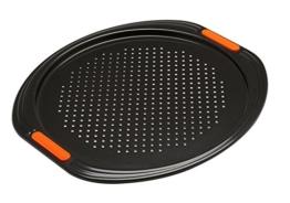 Le Creuset 94102713000000 Pizzabackblech Antihaft Kohlenstoff, 38,7 x 36,7 x 1,2 cm, schwarz -