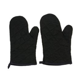 Lifeyz 1 Paar Backen Handschuhe Thick Hitzebeständiges Isolierung Wärme Proof Topflappen Handschuh Baumwolle Ofen handschuh Küche Ofen handschuhe (schwarz) -