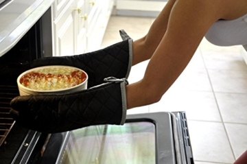 Lifeyz 1 Paar Backen Handschuhe Thick Hitzebeständiges Isolierung Wärme Proof Topflappen Handschuh Baumwolle Ofen handschuh Küche Ofen handschuhe (rot) -