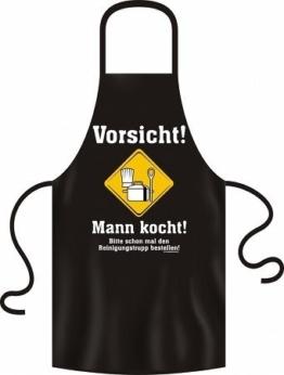 Lustige Grillschürze Kochschürze Schürze Vorsicht Mann kocht -