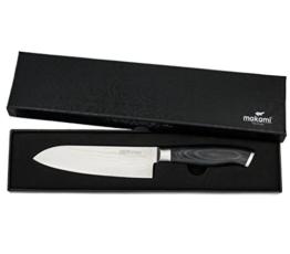 makami Premium Santokumesser aus japanischem Damaststahl VG-10 in Geschenkverpackung - HRC60 - Küchenmesser -