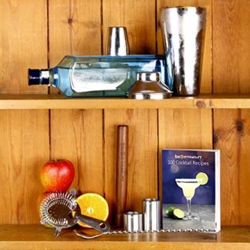 Manhattan Cocktail-Shaker Set in recycelbarer Box von bar@drinkstuff | Kit zum Zubereiten von Cocktails zu Hause mit Manhattan Mixer, Cocktail-Buch (Englisch), Cocktailsieb, Stößel, gedrehtem Barlöffel, 25ml & 50ml Fingerhut-Barmaß -