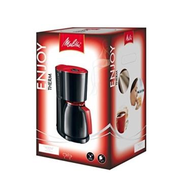 Melitta 100208 bk/rd Enjoy Therm Kaffeefiltermaschine -Thermkanne -Aromaselector rot/schwarz -