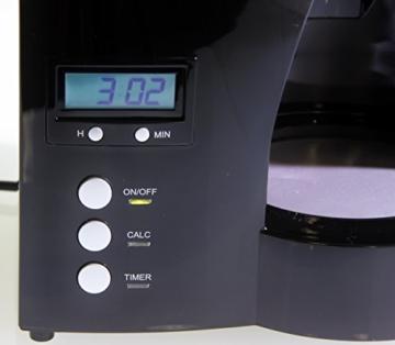 Melitta 100801 Optima Timer Kaffeefiltermaschine - schwarz/Edelstahl -