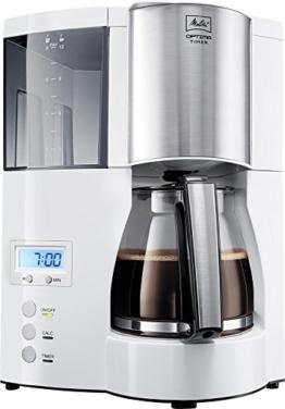 Melitta 100801 Optima Timer Kaffeefiltermaschine - weiß/Edelstahl -