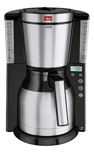 Melitta 101116 Kaffeefiltermaschine Look Therm Timer, Kalkschutz, Timer, schwarz/Edelstahl -