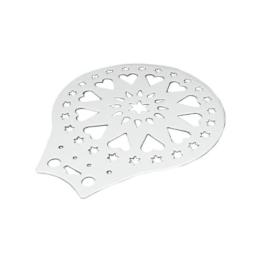 Metaltex 257720 Kuchenheber und Verzierschablone aus Kunststoff, 28 cm -
